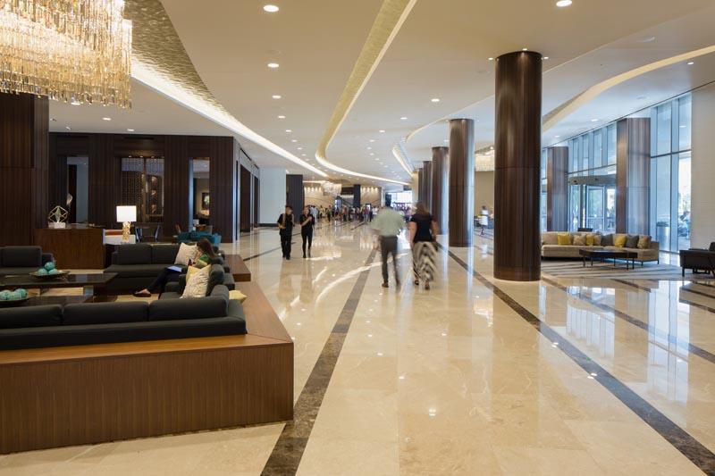 Downtown Houston Marriott Marquis lobby