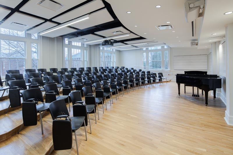 UNC Hill Hall recital classroom