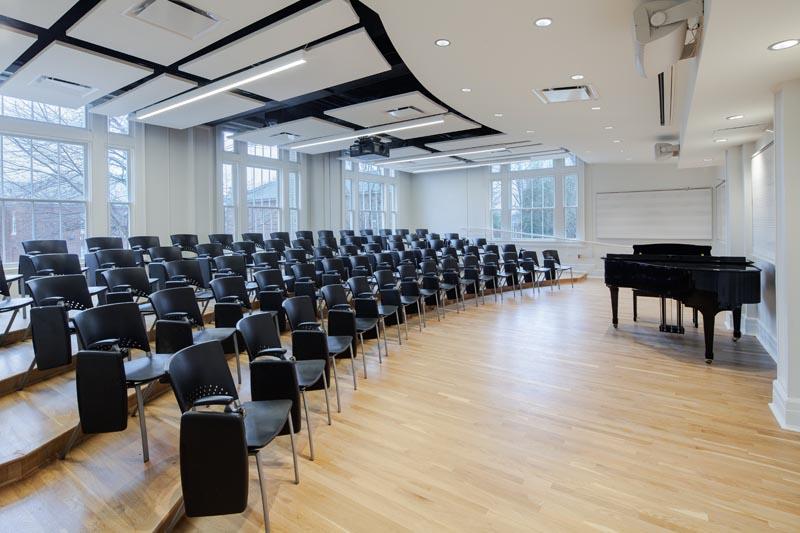UNC Hill Hall recital classroom