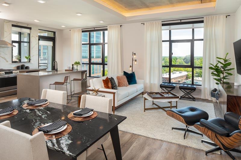 The Hawk's model apartment unit