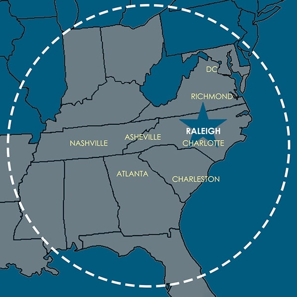 NC map of where Sterling works